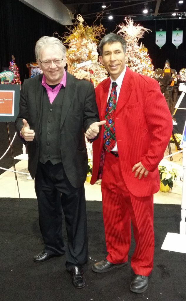 Rick Anderson and Jeff Evans performing for the Festival of Trees at the Tacoma Convention Center