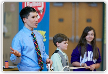 Jeff role plays with students to see what they might do in certain situations