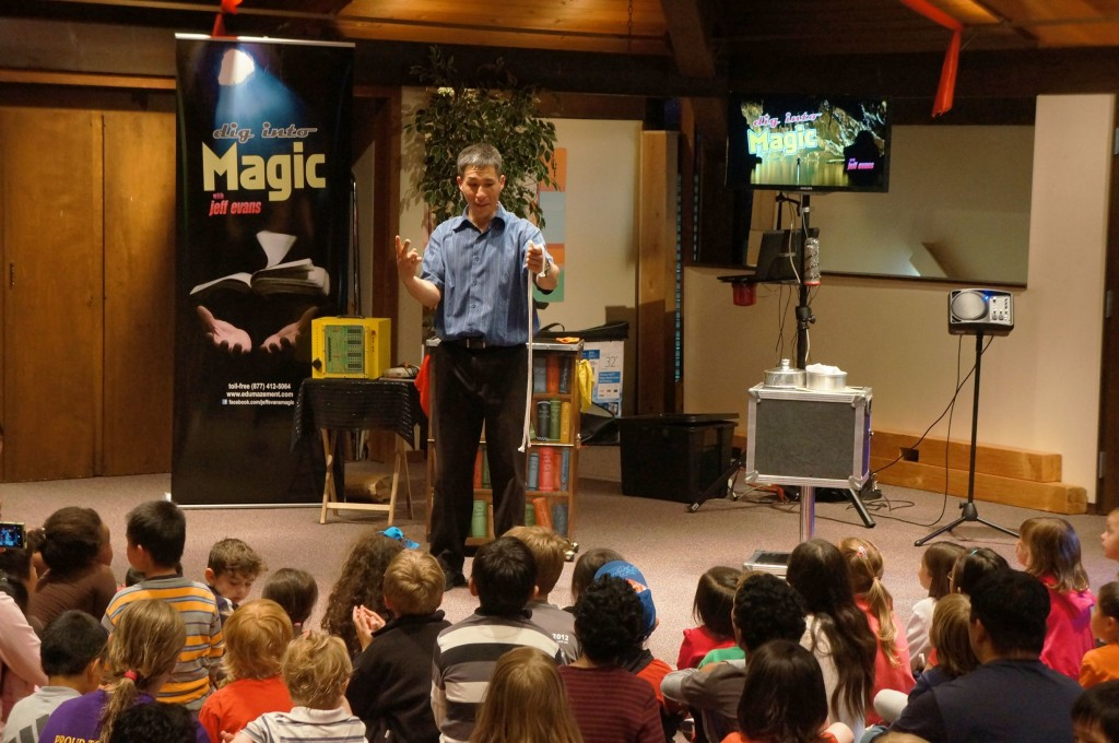 Summer Reading Magic with Jeff Evans at the Newport Way Library in Bellevue