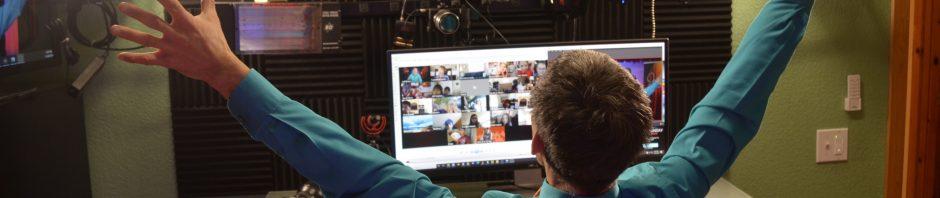 virtual school assemblies with Jeff Evans